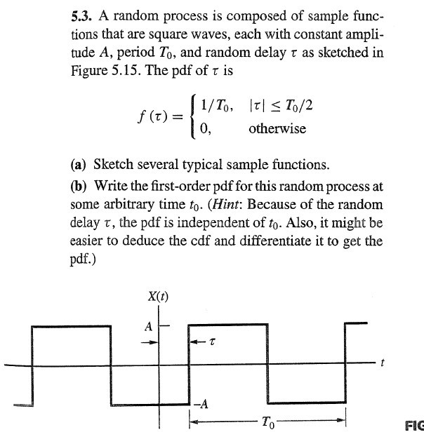 A random process is composed of sample functions t