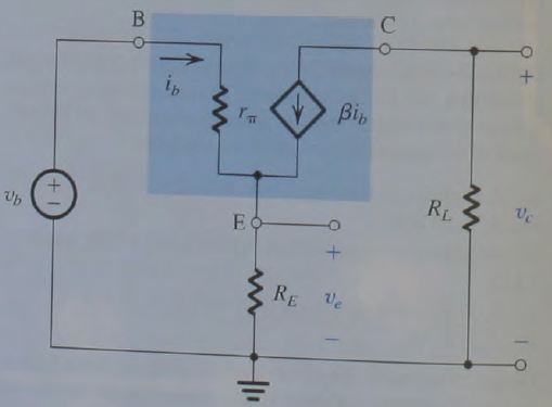 For the circuit in fig. P1.61, show that vc/vb = -