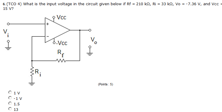 What is the input voltage in the circuit given bel