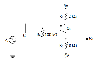 The transistor, in the circuit shown in Figure 1 b
