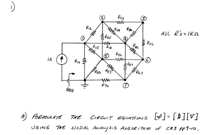 solved  please use the nodal analysis algorithm as explain