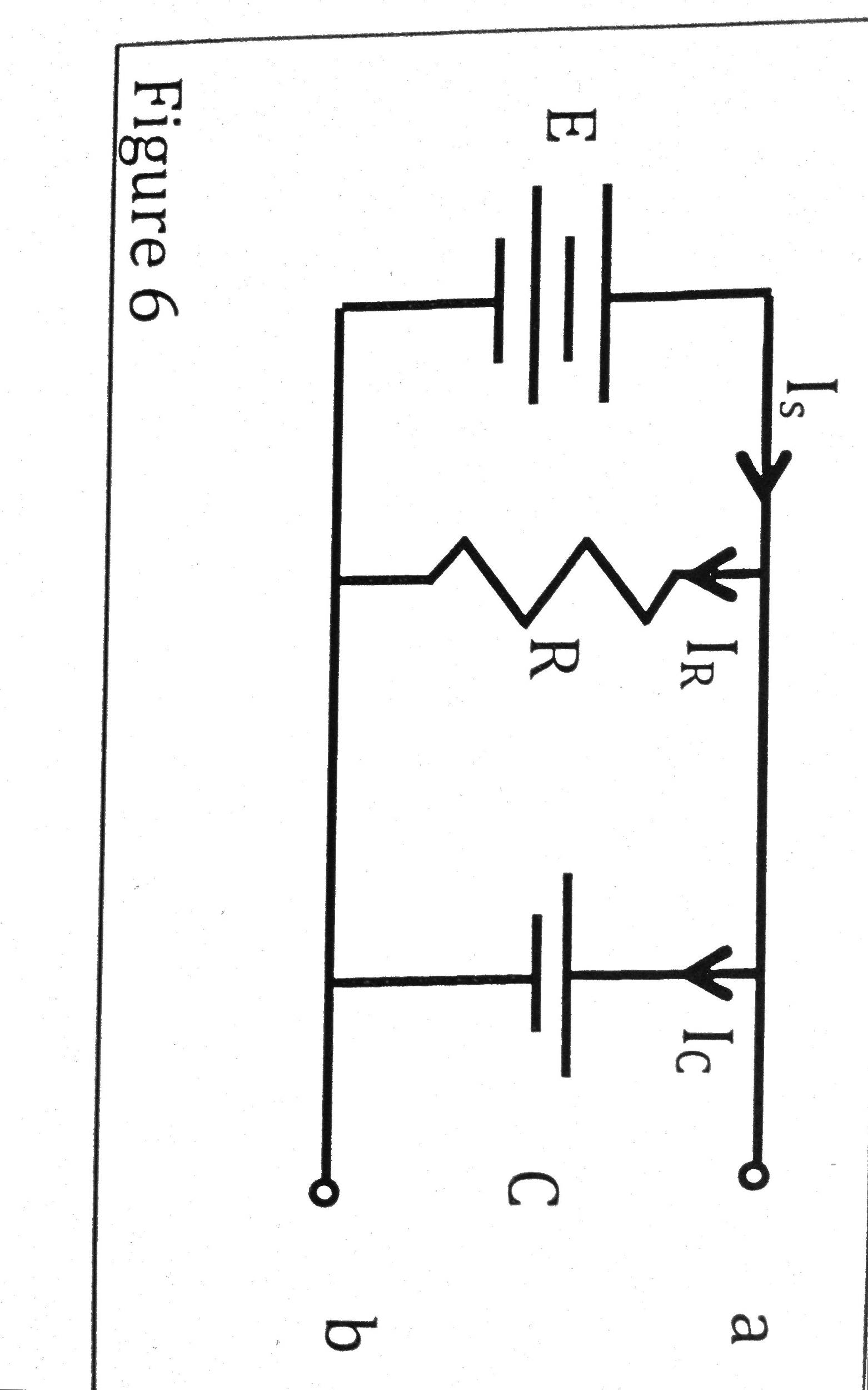 Figure 6 shows a circuit long after a switch (not