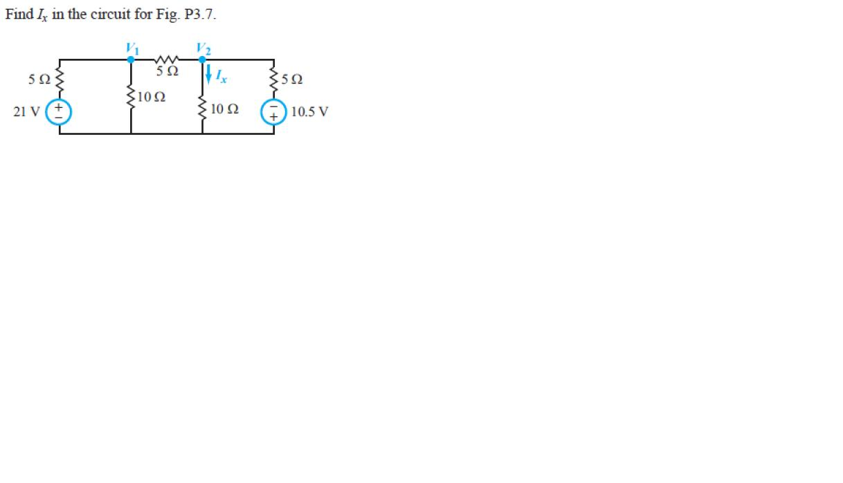 Find Ix in the circuit for Fig. P3.7.