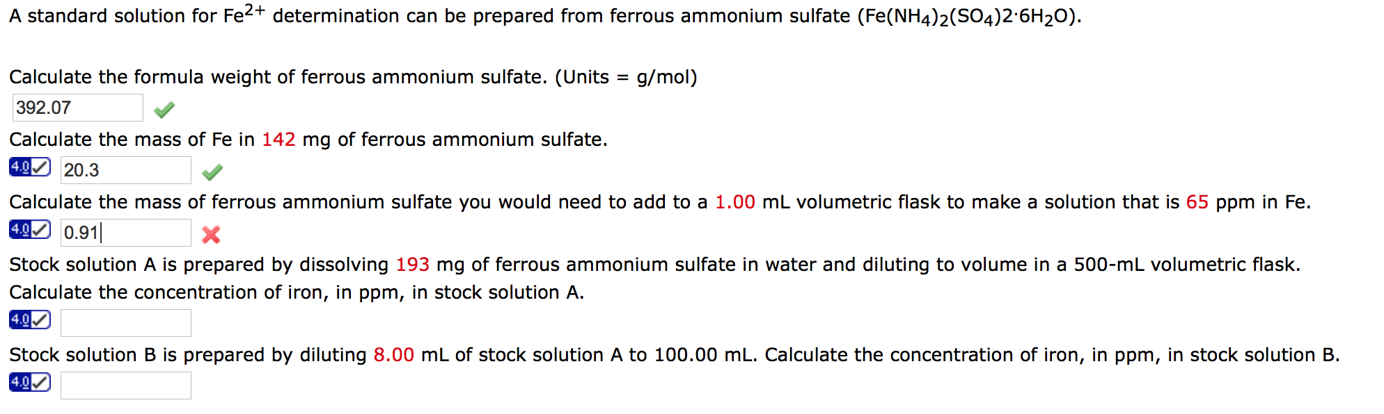 determination of the formula of hydrated iron (ii) sulphate crystals essay Cupric sulfate   cuso45h2o or copper sulfate-penta hydrate copper sulfate fine crystal ksc494e3h copper (ii) sulfate pentahydrate was admin in the feed at.