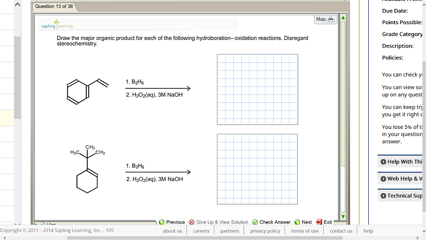 Draw The Correct Structure Of The Indicated Product For Each Of The Following Reactions