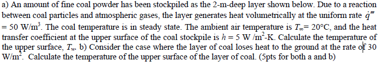 An amount of fine coal powder has been stockpiled