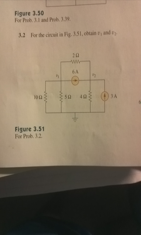 For the circuit in Fig. 3.51, obtain v1 and v2. F