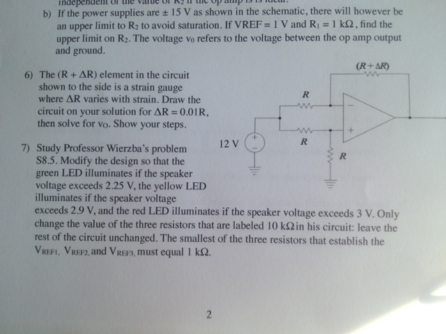 If the power supplies are ± 15 V as shown in the