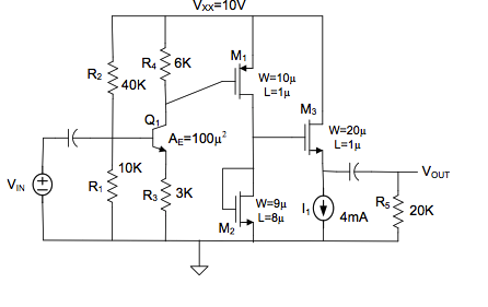 For attached schematic: Assume the capacitors in