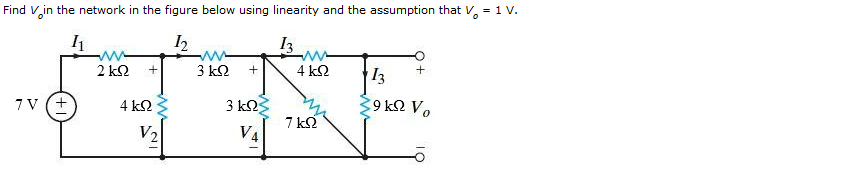 Find Vo in the network in the figure below using l