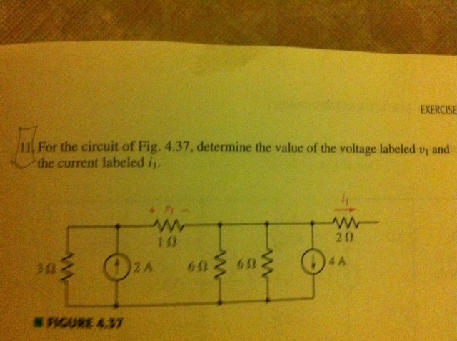 For the circuit of Fig. 4.37, determine the value