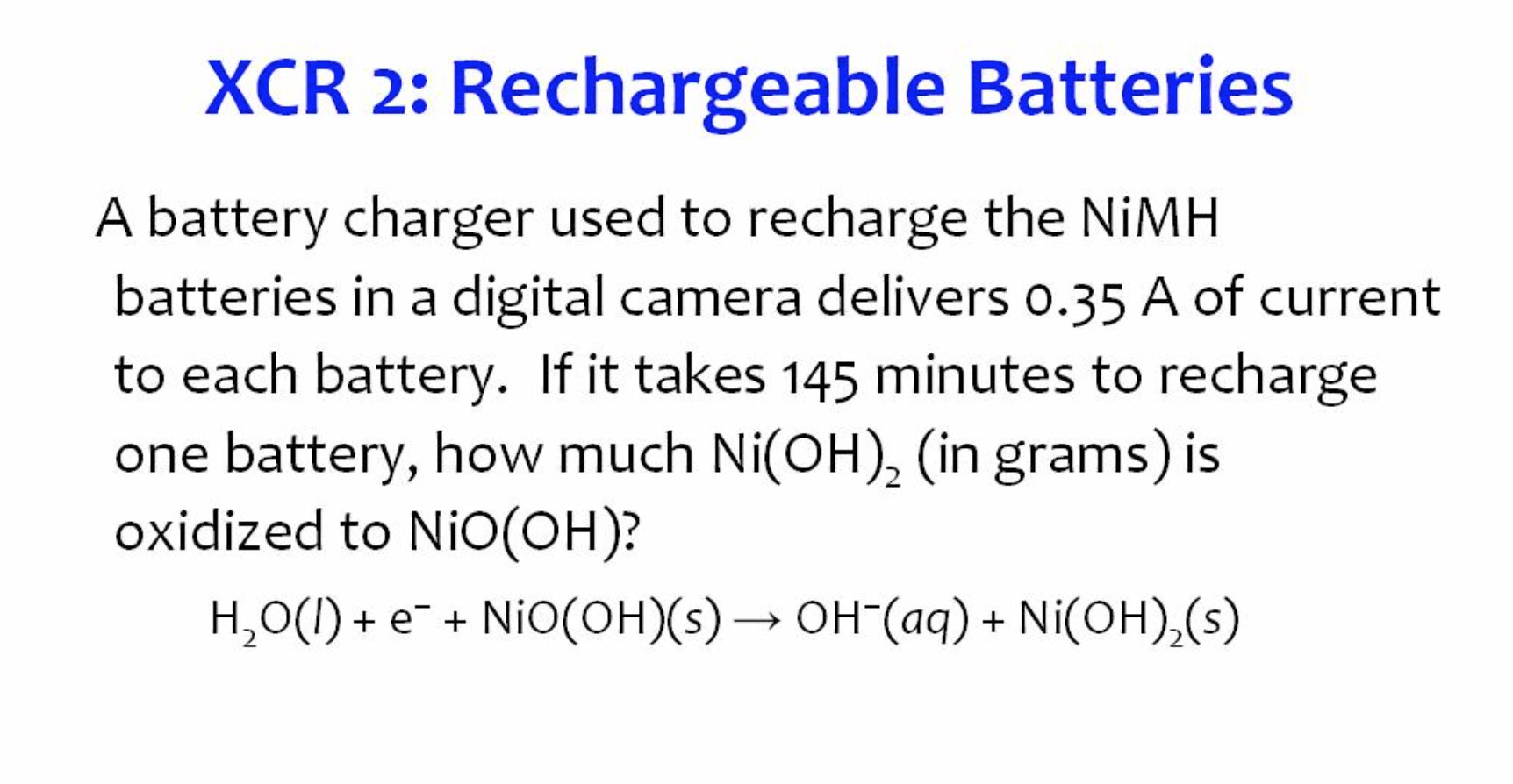 solved a battery charger used to recharge the nimh batter. Black Bedroom Furniture Sets. Home Design Ideas