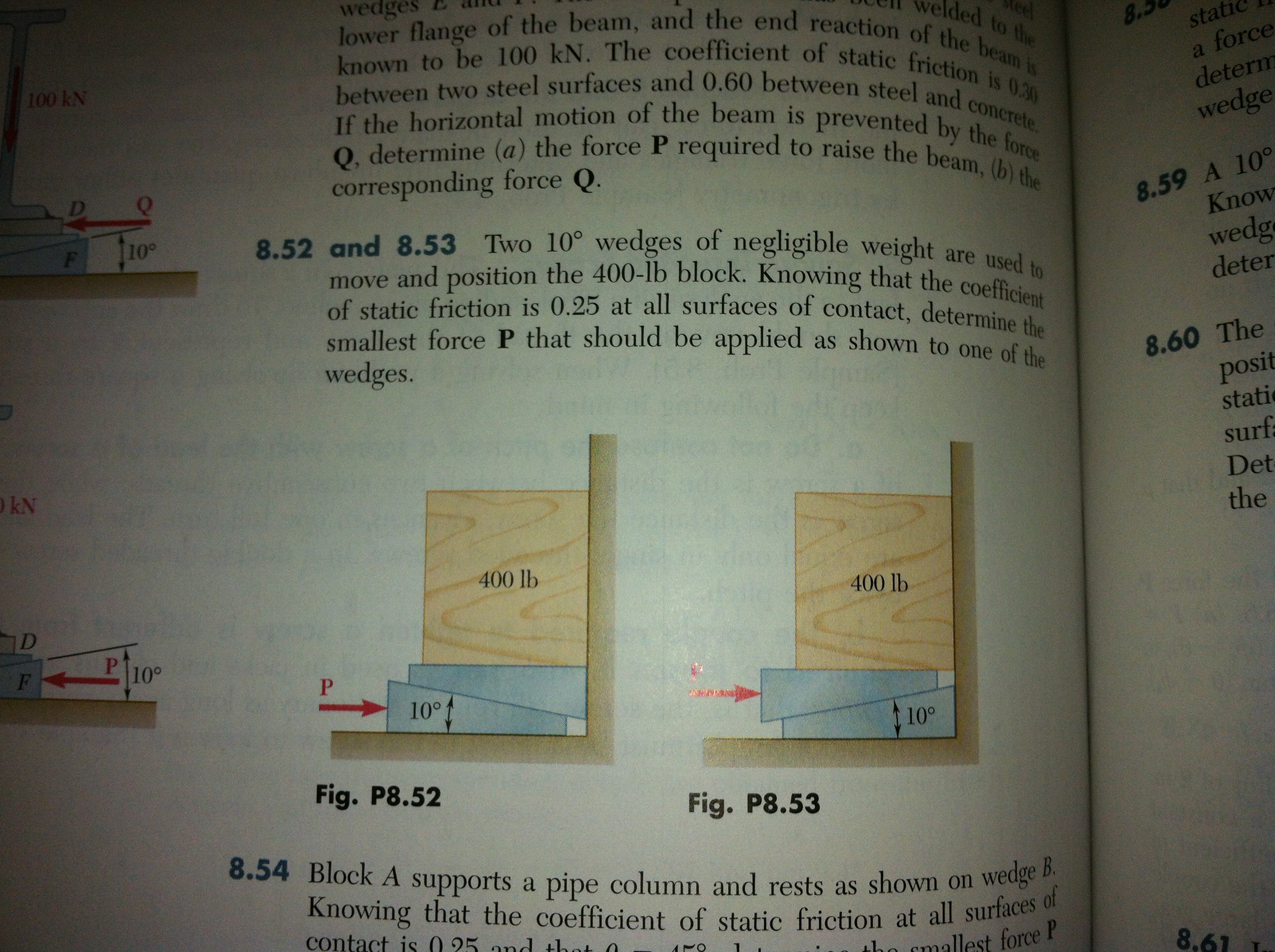 lower flange of the beam, and the end reaction o