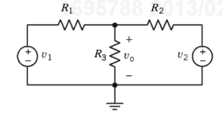 3. (12 points) The circuit below has two inputs v1
