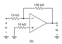 Assuming ideal op amps, find the voltage gain vo