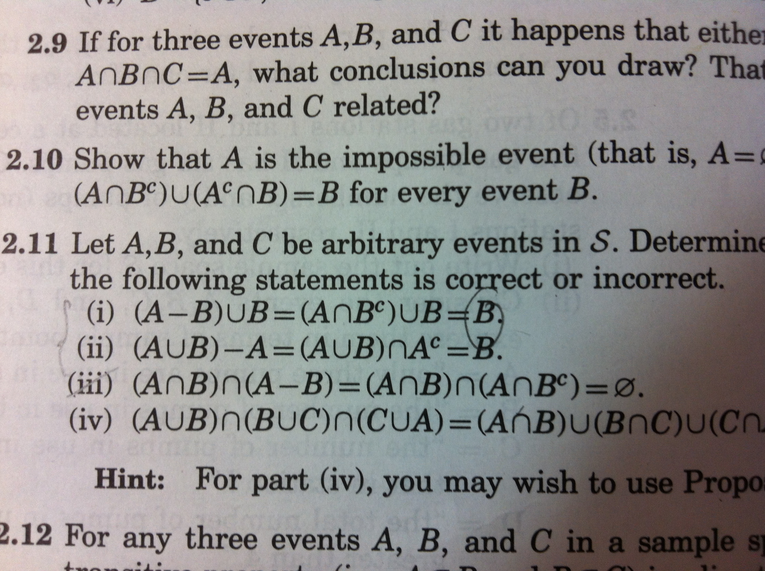 Solved if for three events a b and c it happens that ei if for three events a b and c it happens that ei pooptronica
