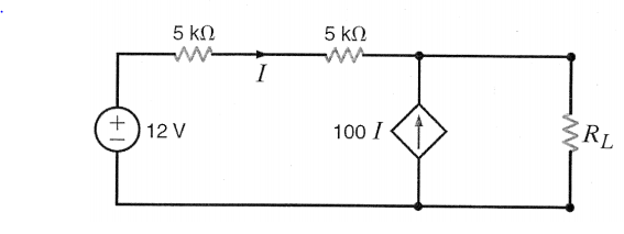 In the circuit shown, find the value of RL that wi