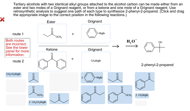 Tertiary alcohols with two identical alkyl groups