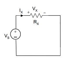 For the circuit below, find relations for the resi