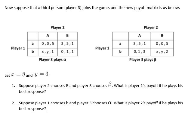 How to create a payoff matrix, and example of a 3x3