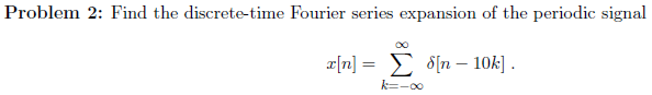 Find the discrete-time Fourier series expansion of