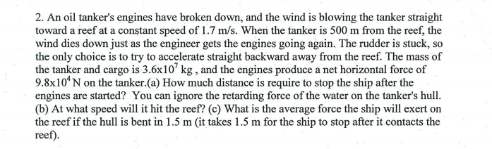 I found the final velocity of the tanker equals .1