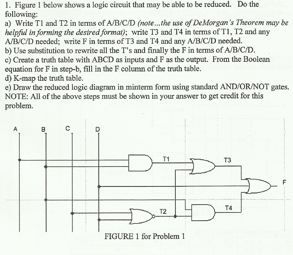 Figure 1 below shows a logic circuit that may be a