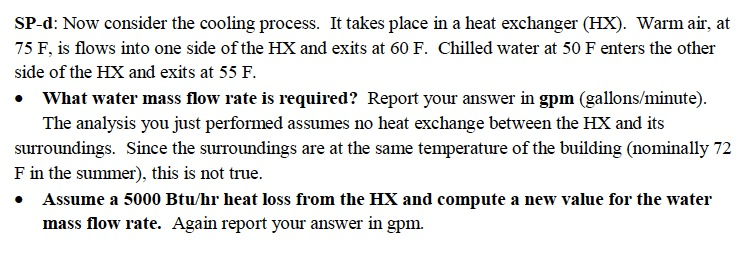 SP-d: Now consider the cooling process. It takes p