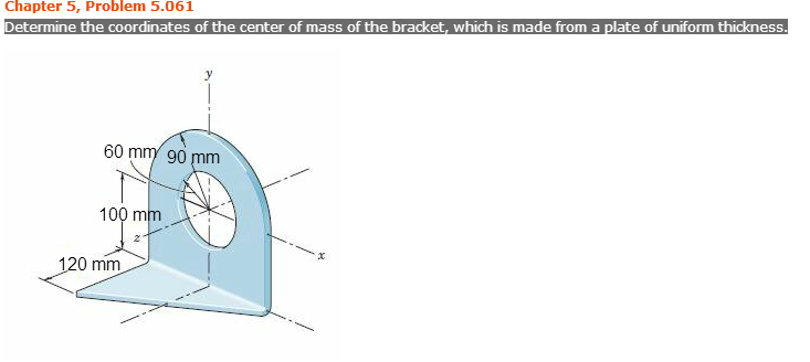 Determine the coordinates of the center of mass of