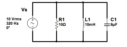 Find the three component currents IR, IL, and IC i