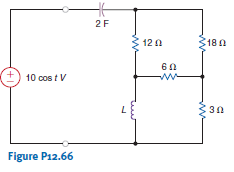 Determine the value of L in the circuit in Fig. P1