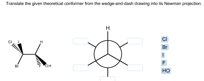 Translate the given theoretical conformer from the