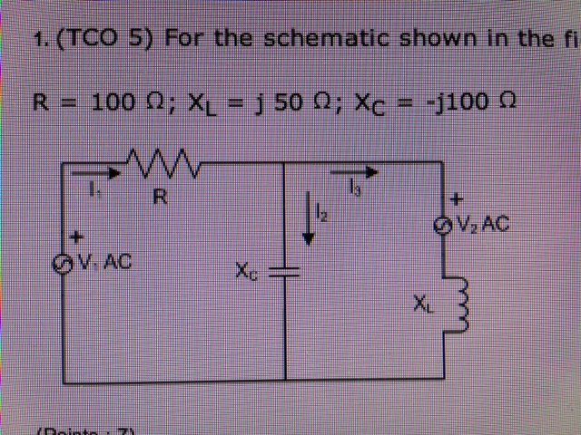 1. (TCO 5) For the schematic shown in the figure,