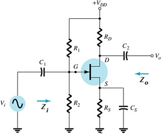 In the JFET voltage-divider configuration circuit
