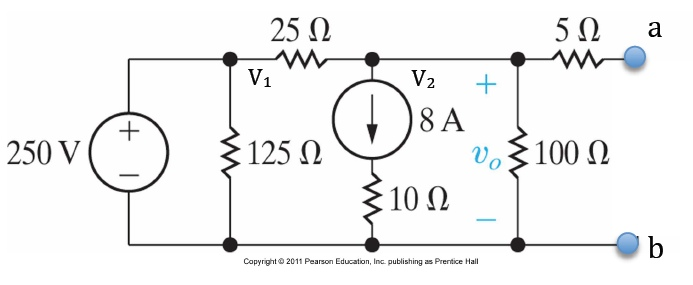solved  find the open circuit voltage and the short circui