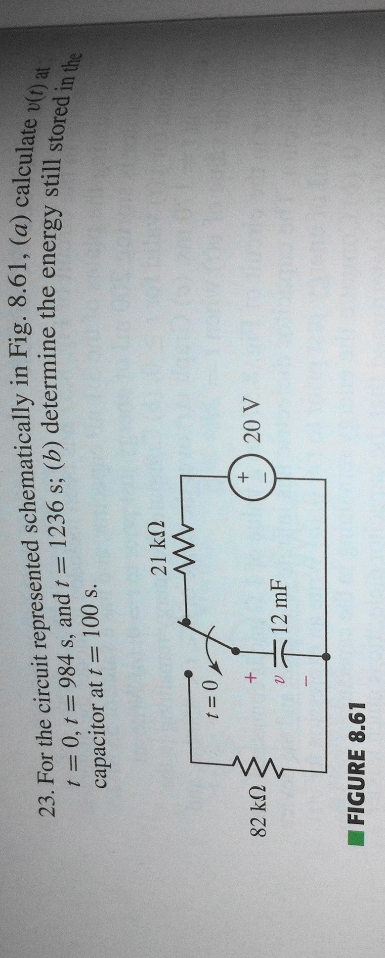 For the circuit represented schematically in Fig.