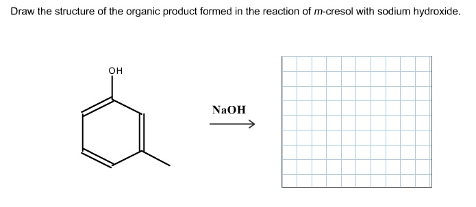 Draw the structure of the organic product formed i