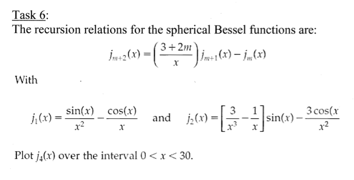 The recursion relations for the spherical Bessel f