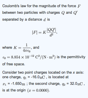 What is the net force exerted by these two charges