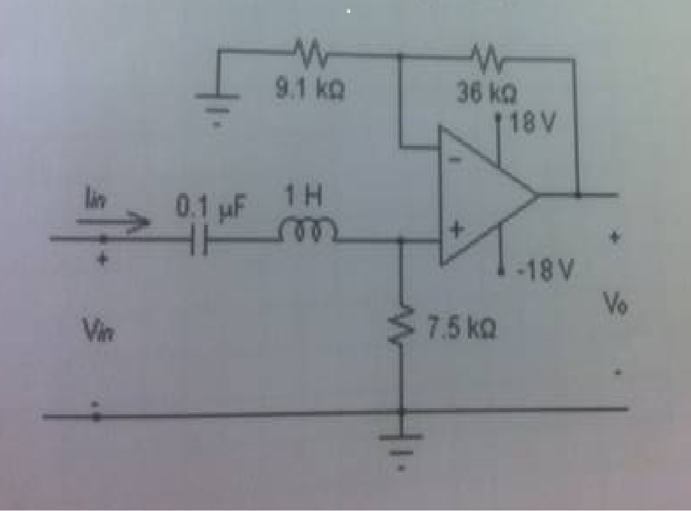 Measure Zin and the voltage gain of the following