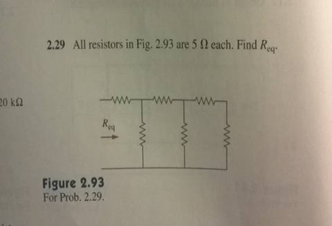 All resistors in Fig. 2. 93 are 5 Ohm each. Find R