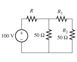 Assume R= 48 (ohm) ; Find the resistance R1 in the