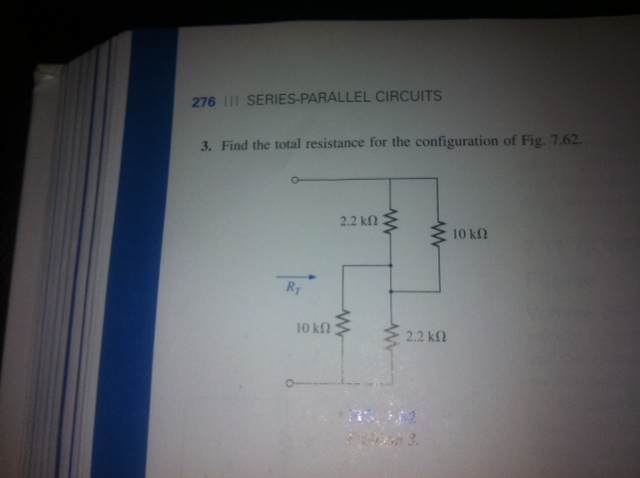 Find the total resistance for the configuration of