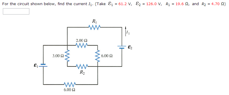 For the circuit shown below, find the current I1.