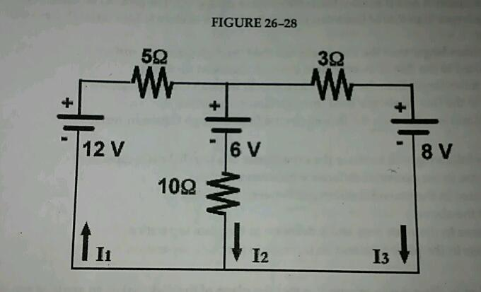 In fig. 26-28, what is the value of the current I1