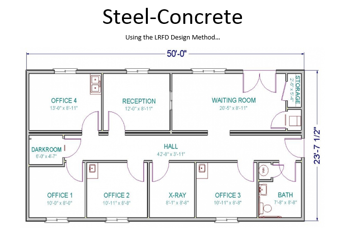 Option 1 determine the size of the steel beams un for X ray room floor plan