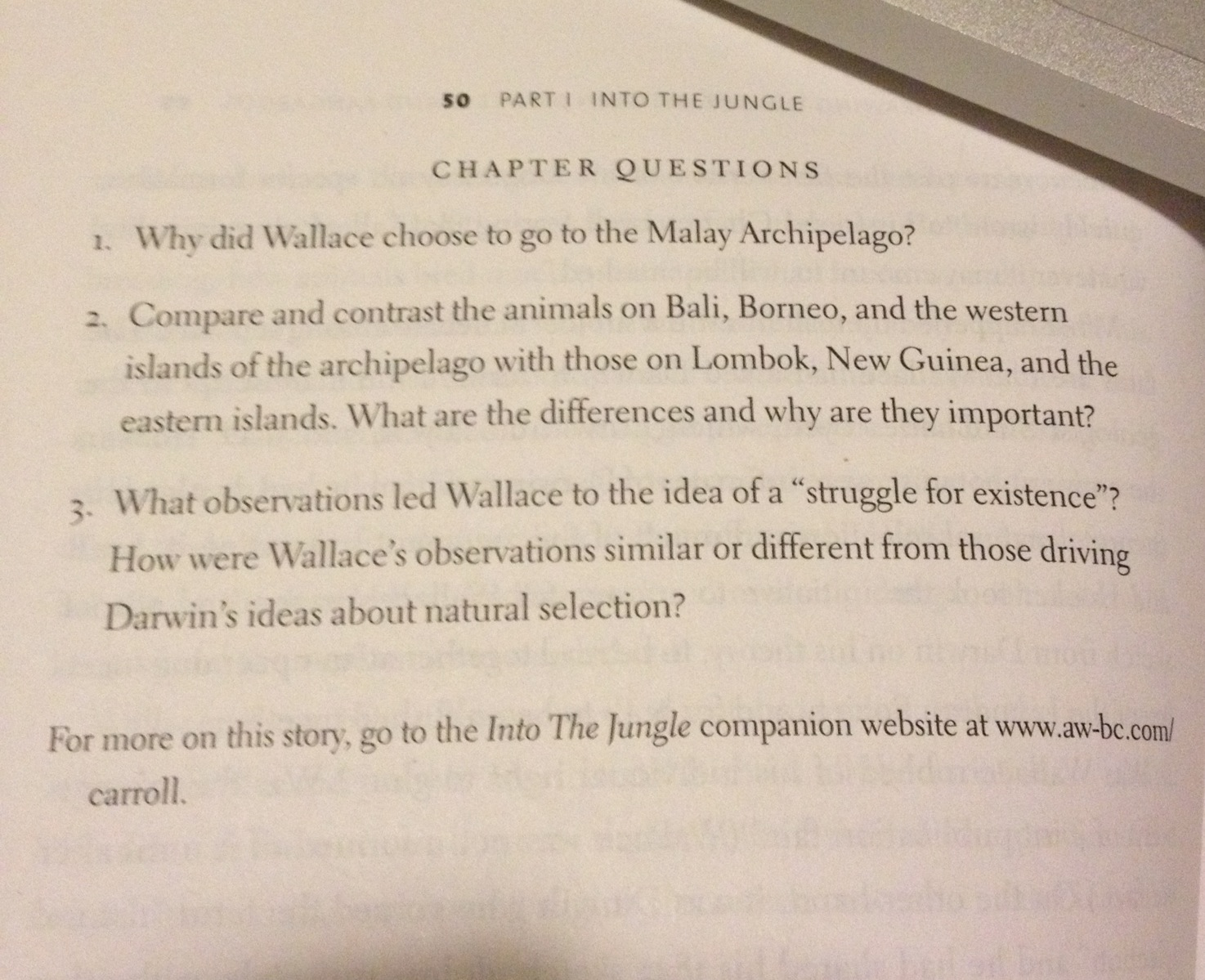 Why did Wallace choose to go to the Malay Archipel