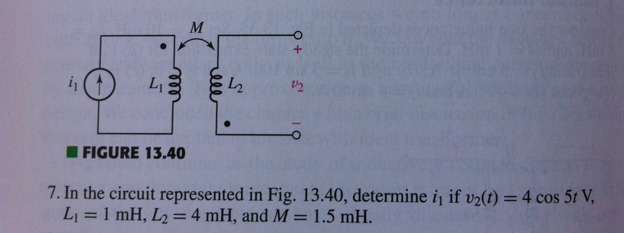FIGURE 13.40 In the circuit represented in Fig.