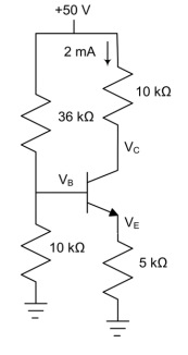 ? = 150 for the transistor in the circuit below. D