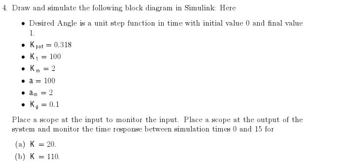 Draw and simulate the following block diagram in S
